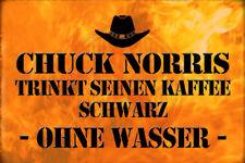 Chuck Norris Spruch 22 Blechschild Schild gewölbt Metal Tin Sign 20 x 30 cm