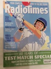 RADIO TIMES 8 JULY 2017  60 YEARS TEST MATCH SPECIAL CRICKET COVER PULLOUT GUIDE