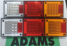 LED Autolamps 2x 460ARWM Stop/Tail/Ind/Reverse Lamp 12/24 Volt - 5 Year Warranty