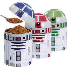 STAR WARS DROID STORAGE SET OF 3 TEA, COFFEE, SUGAR  R2-D2