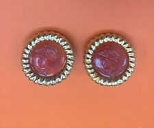 Vintage KJL Intaglio Earrings