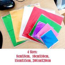 Chocolate Foil Wrappers Sizes 8cm10cm15cm20cm Squares UK Doncaster seller