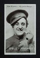 WW1 Postcard Our B`hoys Soldier My Pal`s Baccy Dolphin Hotel Honiton Devon