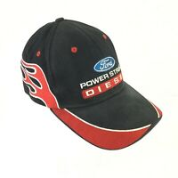 Ford Power Stroke Diesel Baseball Cap Strapback Adjustable Hat Black Red Flames