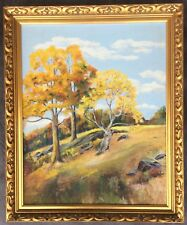 Antique Impressionist Landscape Oil On Board Signed by B. Greene