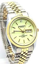 Swanson Men Two-tone, Yelow Dial, 1 Saphire-Crystal, Dress Watch