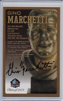 Gino Marchetti Pro Football Hall of Fame Autographed Bronze Bust Card 100/150