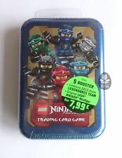 LEGO NINJAGO Serie 2: MINI TIN BOX BLAU, LE 10 ORIGINAL TEAM, Trading Card Game