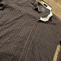 VTG 90s Chaps Ralph Lauren Button Up Shirt Mens L Patterned Style