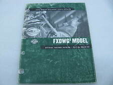 2002 Harley Davidson Dyna FXDWG Wide Glide Parts Catalog Manual Book 99430-02