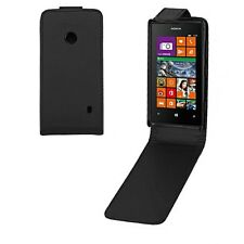 BLACK FLIP LEATHER PHONE CASE WITH CARD SLOT FOR NOKIA LUMIA 520 UK FEE POST