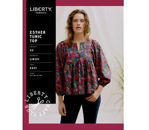 Liberty Of London Esther Tunic Top sewing pattern Sizes XS-XXL