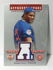 2003 UD *Authentic Stars* Sammy Sosa #AS-SS Chicago Cubs