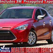 2016 2017 Toyota Scion Yaris Sedan iA Chrome Door Handle COVERS+Mirror Overlays