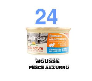 24 pz almo nature Holistic Mousse  85g,GATTO, Maintenance al Pesce Azzurro