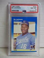 1987 Fleer Bo Jackson RC PSA NM-MT 8 Baseball Card #369 MLB