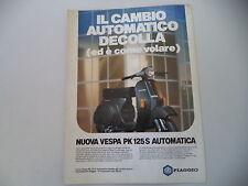 advertising Pubblicità 1984 VESPA PK 125 S AUTOMATICA