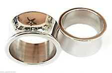 """PAIR-Solid Steel Double Flare Tunnels 25mm/1"""" Gauge Body Jewelry"""