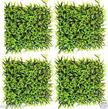 Artificial Garden Grass Mat Placemat for Aquarium Pet & Party Decor (4-Pack)