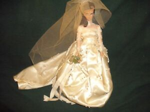 Black Hair Miss Babette Doll 1960? Barbie Clone Doll EG Eegee with Wedding Dress