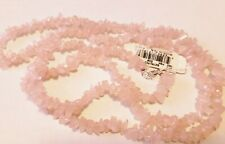 Pink Shell Beaded Crystal Rock Genuine Stone Sterling Collection Necklace