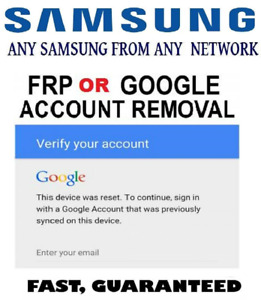 Samsung S Series FRP/ Google Account Removal Service
