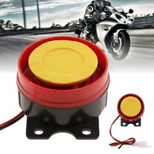 12V Auto Car Motorcycle ATV Raid Siren Small Round Electric Horn Alarm Red Color