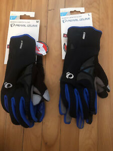 New PEARL IZUMI Women's Elite Softshell Glove - Size Medium - Black