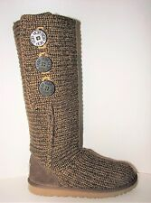 UGG Australia Cardy Brown Knit Boots Women Size 5