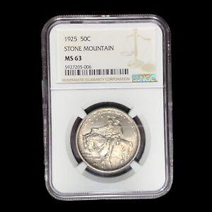 1925 NGC MS-63 Stone Mountain Commemorative Half Dollar #W9072