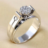 Elegant 925 Silver Wedding Rings Women Jewelry White Sapphire Rings Size 6-10