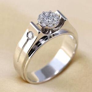 Elegant 925 Silver Wedding Rings Women Jewelry Cubic Zirconia Rings Size 6-10