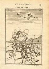 DUBLIN. Decorative town plan/bird's eye view. Ireland. MALLET 1683 old map