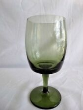 Gorham Crystal Accent Green Water Goblet
