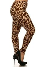 Plus Size Leggings XL-2X Polyester Spandex Cheetah Animal Print LEGGINGS DEPOT