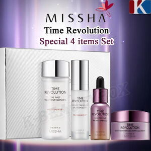 MISSHA Time Revolution Treatment Special 4-items Set Essence+Serum+Ampoule+Cream
