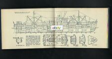 ROYAL MAIL LINES ROSS SHIP SERIES ADLARD COLES 1953 BOOK ANDES CUTAWAYS & PHOTOS