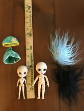 Two Mini Dolls Pullip & 11 cm Obitsu With Two Custom Wigs