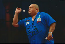 Andy SMITH The Pie Man Signed 12x8 Autograph Photo AFTAL COA Darts Player
