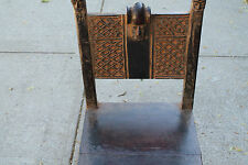 """Arts of Africa - Songye Chief Chair - Congo - 37"""" Height x 18"""" W x 17"""" Long STRG"""