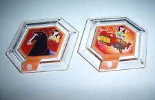DISNEY INFINITY Power Disc Lot Mulan Dragon Firework Cannon & Kahn Horse PS3 Wii