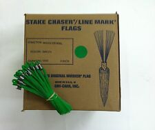 """Smi-Carr 6"""" Stake Chaser® Whiskers/Line Mark® Flags, Green - 1000 Count"""