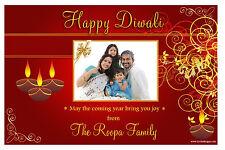 10 Personalised Diwali Devali Hindu Greetings Celebration PHOTO Post Cards N3