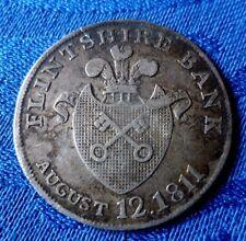 RARE MONNAIE DE ONE SHILLING BANK TOKEN AUGUST 12 1811 EN ARGENT