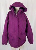 LL Bean Primaloft Hooded Winter Parka Ski Snowboard Long Jacket Coat Womens M