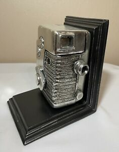 Vintage Camera Bookend Desk Art Object with Hidden Storage Compartment