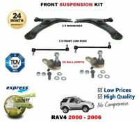 FOR TOYOTA RAV4 FRONT 2x WISHBONE ARMS 2x LINK BARS 2x BALL JOINT SUSPENSION KIT