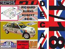 DECAL 1/18 PEUGEOT 309 GTI RICHARD BURNS RAC RALLY 1991 (05)