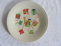"Homer Laughlin Fiesta Holiday Gifts-Presents-9"" Luncheon Plate(s)- New $40"