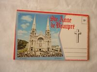 Vintage Souvenir Post Card Book Ste Anne de Beaupre Souvenir Quebec Canada 1950s